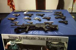 These weapons were seized from members of the Texas Syndicate during an 18-month investigation. The probe led to 18 people being indicted.