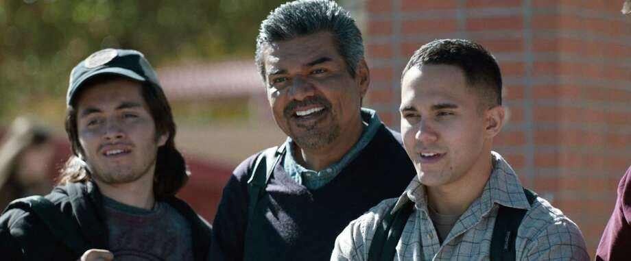 "Jose Julian, George Lopez and Carlos PenaVega in ""Spare Parts."" (Ursula Coyote/Pantelion Films/TNS) Photo: Handout, HO / McClatchy-Tribune News Service / TNS"