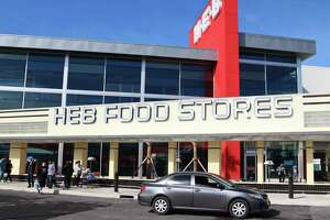 The new two-story H-E-B store at 1601 Nogalitos St. opened Friday to a huge turnout from shoppers looking to stock up on food.