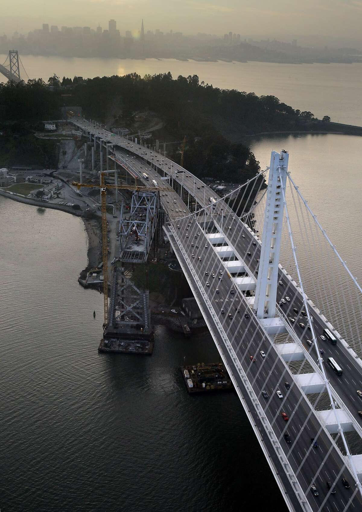 The Bay Bridge's novel, self-anchored suspension design is striking, but it came at a huge cost. Bridge experts were outvoted in picking the design by panel members with no bridge knowledge or experience.