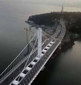 Controversy over the new Bay Bridge span continues after its construction.