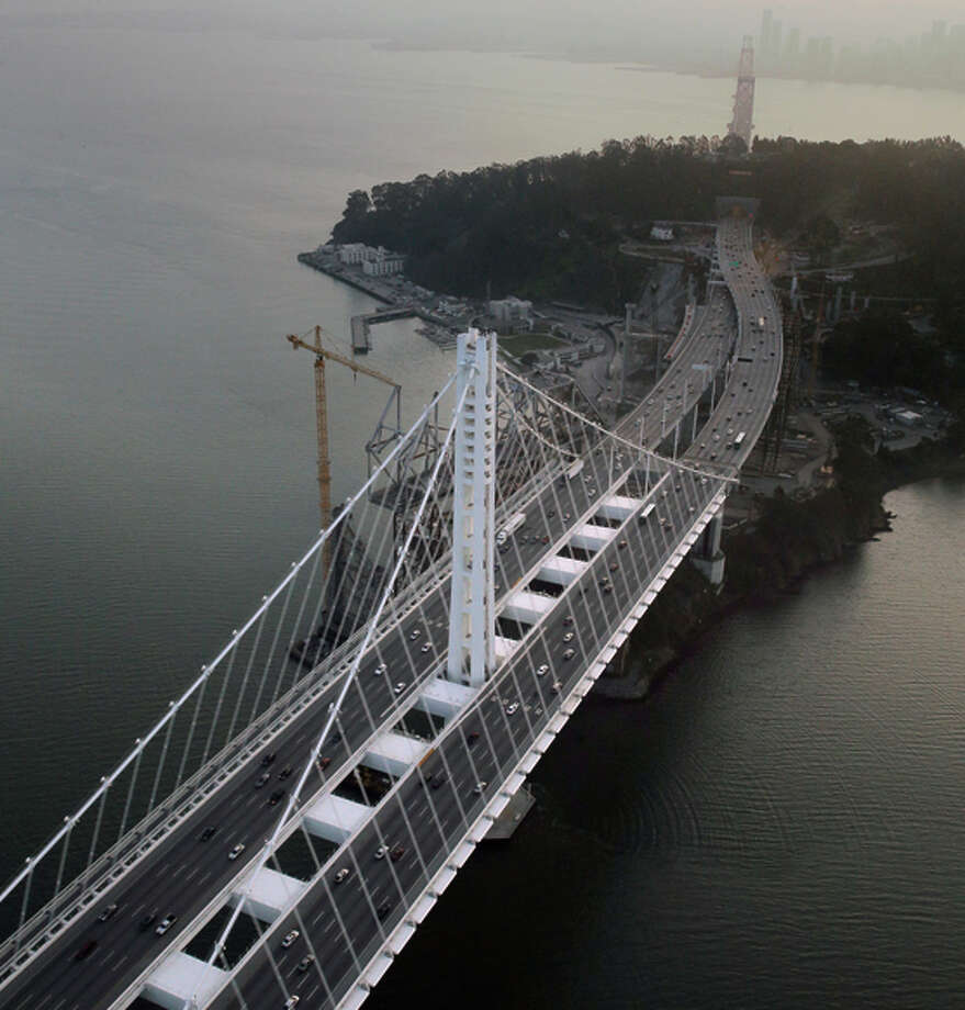 Controversy over the new Bay Bridge span continues after its construction. Photo: Carlos Avila Gonzalez / The Chronicle / ONLINE_YES