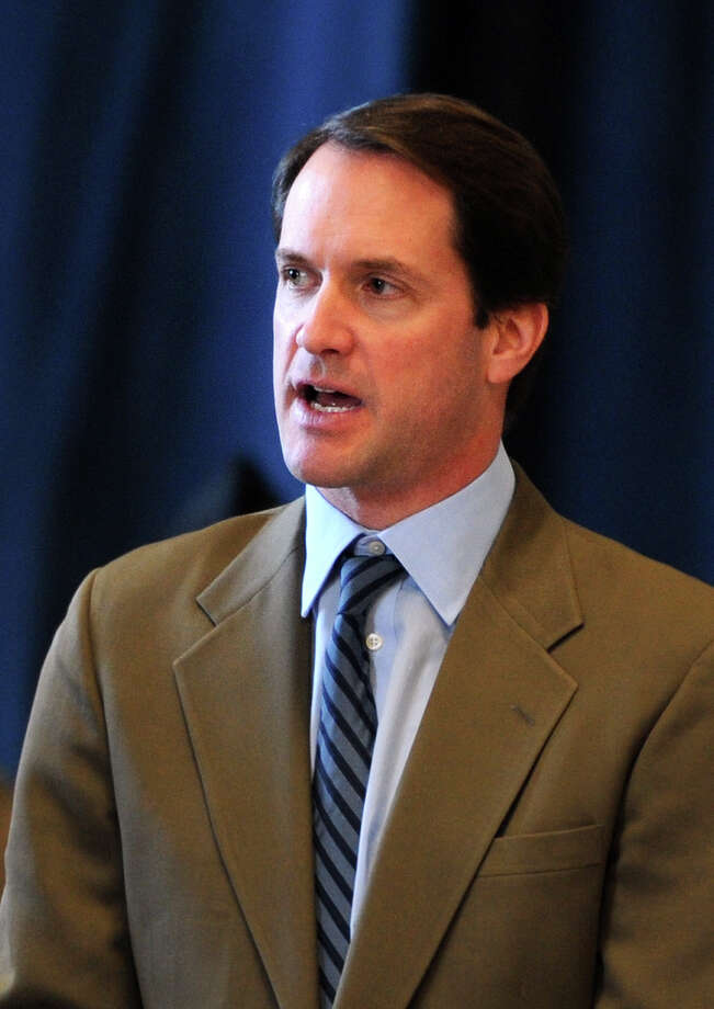 Rep. Jim Himes, D-Conn., speaks during an awards ceremony Thursday, Jan. 15, 2015 at the  Bridgeport Military Academy in Bridgeport, Conn. Photo: Autumn Driscoll / Connecticut Post