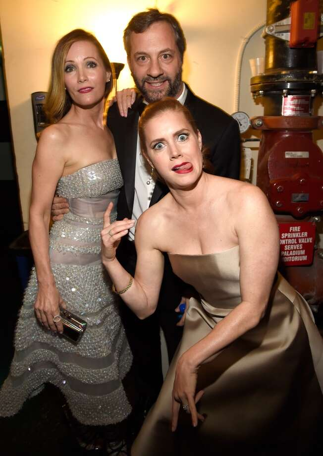 Leslie Mann, Amy Adams and Judd Apatow attend the 20th annual Critics' Choice Movie Awards at the Hollywood Palladium on January 15, 2015 in Los Angeles, California. Photo: Kevin Mazur, WireImage