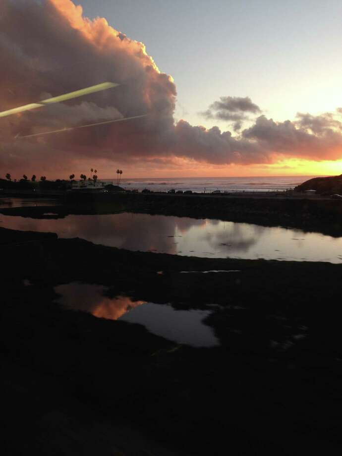 Chronicle reader Kay Black of Rosenberg submitted this vacation photo of San Diego taken from an Amtrak train window. Photo: Kay Black