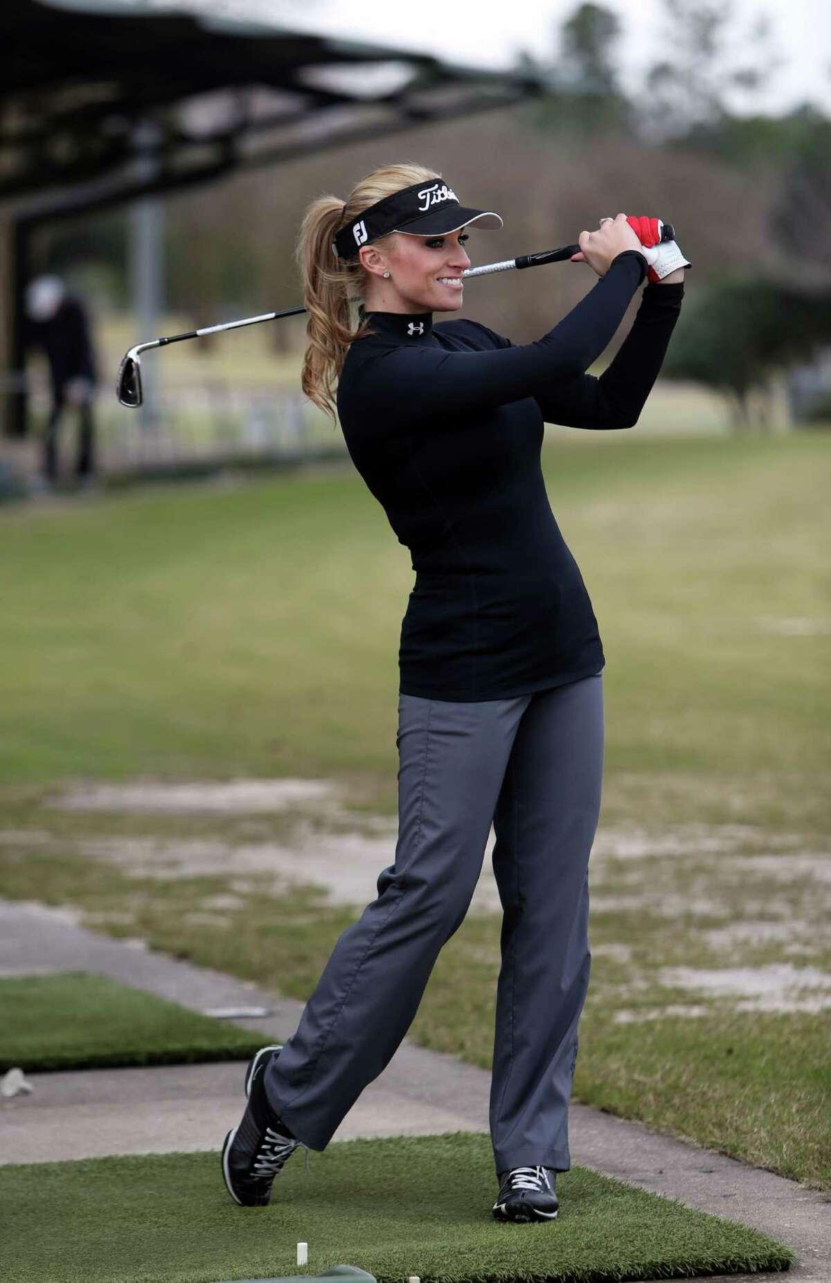 KHOU metereologist Chita Johnson is an avid tennis and golf player on Thursday, Jan. 15, 2015, in Houston. ( Mayra Beltran / Houston Chronicle )