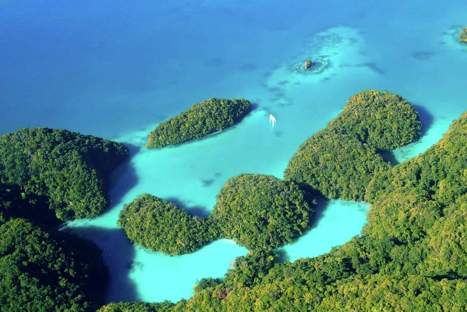The distinctive Rock Islands in Palau are part of a UNESCO World Heritage site and an icon of the country's marine preservation efforts. Photo: Spud Hilton / ONLINE_YES