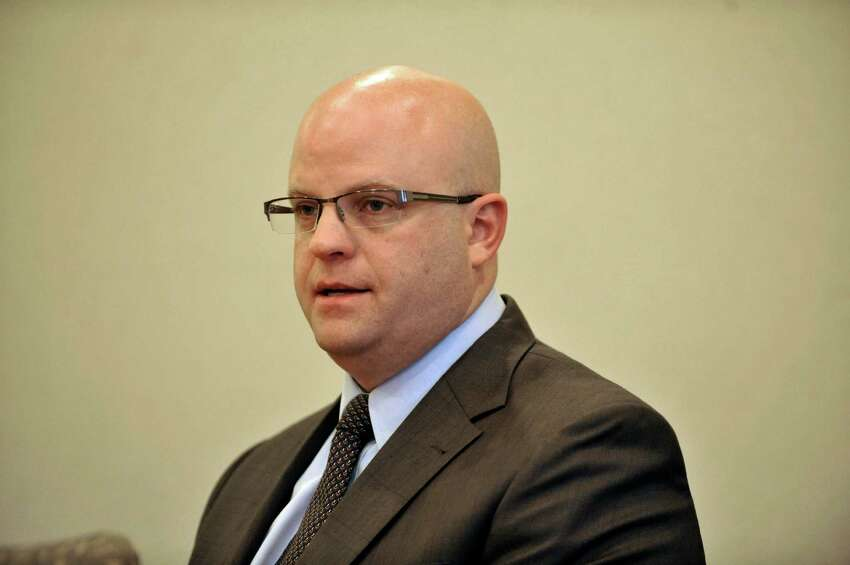 Rensselaer County District Attorney, Joel Abelove talks to members of the Times Union editorial board on Wednesday, Oct. 15, 2014, in Colonie, N.Y. Abelove quietly dropped child endangerment charges against fellow Republican Richard Crist, a top aide to the county?s legislature. (Paul Buckowski / Times Union)