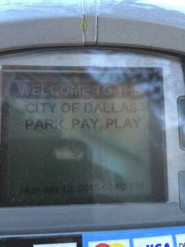 Parking meter on Valencia Street, all the way from Texas