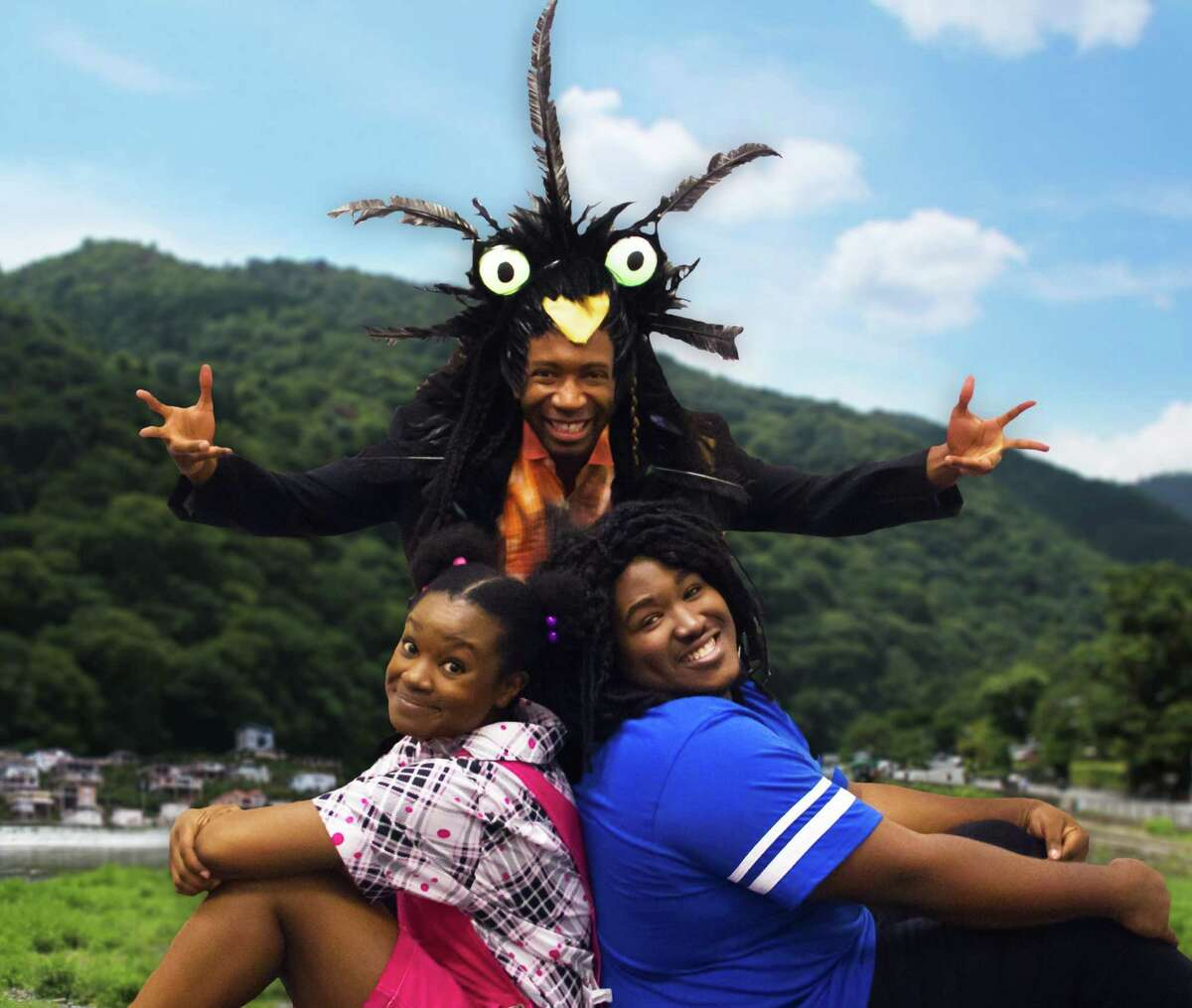 Clockwise from top: Anthony Rollins-Mullens as Duppy, Branden Thomas as Ziggy and Khalia Davis as Nansi in