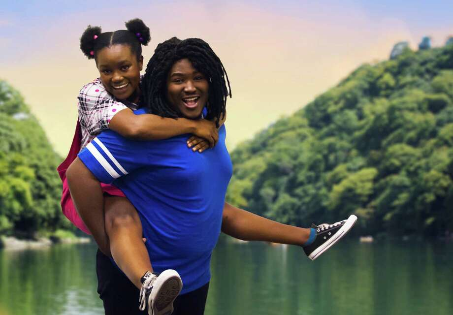 """Branden Thomas plays Ziggy and Khalia Davis is Nansi in """"Three Little Birds,"""" which is based on a story by Bob Marley's daughter Cedella and features much of Marley's music. Photo: Melissa Nigro / ONLINE_YES"""