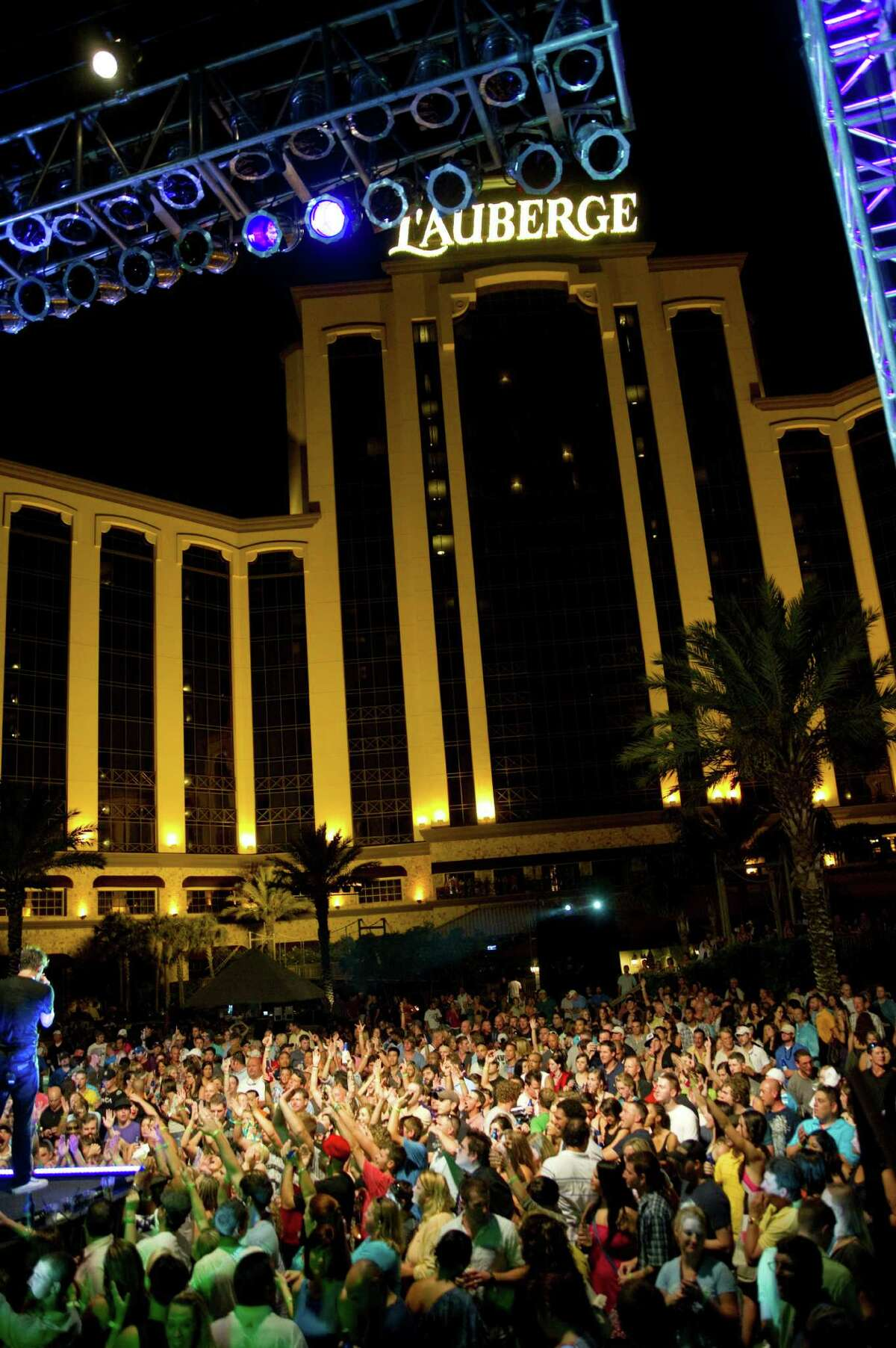 L'Auberge Casino Resort in Lake Charles, La. The pool at L'Auberge Casino Resort in Lake Charles plays host to a Thursday night party/concert series called Liquid Society over the summer.