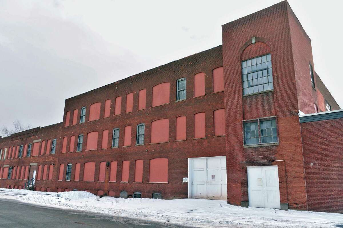 The former Tilley Ladder factory, right, on Second St. Friday Jan. 16, 2015, in Watervliet, NY. (John Carl D'Annibale / Times Union)