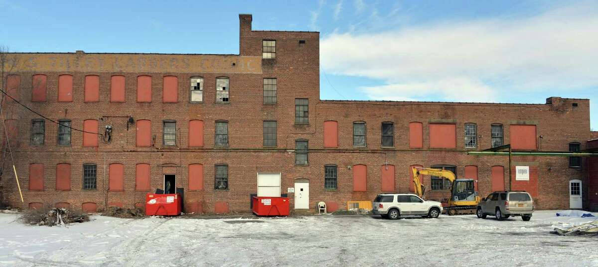 The former Tilley Ladder factory Friday Jan. 16, 2015, in Watervliet, NY. (John Carl D'Annibale / Times Union)