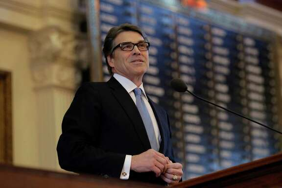Texas Gov. Rick Perry delivered a farewell speech to a joint session of the Texas Legislature on Thursday, Jan. 15.