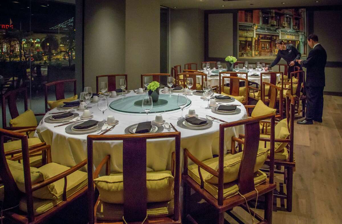 One of the private rooms at Crystal Jade in San Francisco, Calif., is seen on Friday, January 9th, 2015.