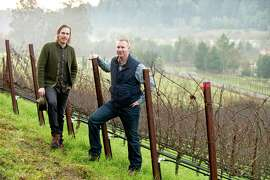 Carlo (left) and Dante Mondavi founded Raen Winery to focus on Pinot Noir from western Sonoma County, including this site outside Freestone.