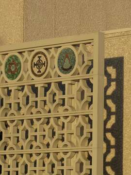 The Scottish Rite Temple at 19th Avenue and Sloat Boulevard is an imposing concrete box from 1964 given a glamorous touch by the use of patterned concrete grilles. The architect was Albert F. Roller.