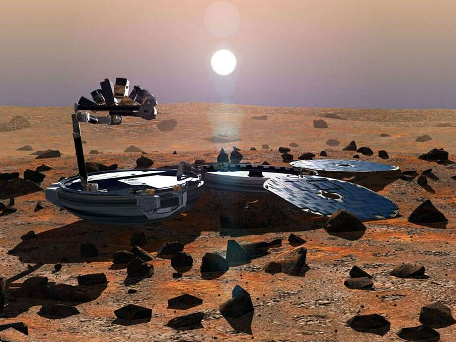 This is what the Beagle-2 was supposed to look like at work on the surface of Mars. Photo: Getty Images / AFP
