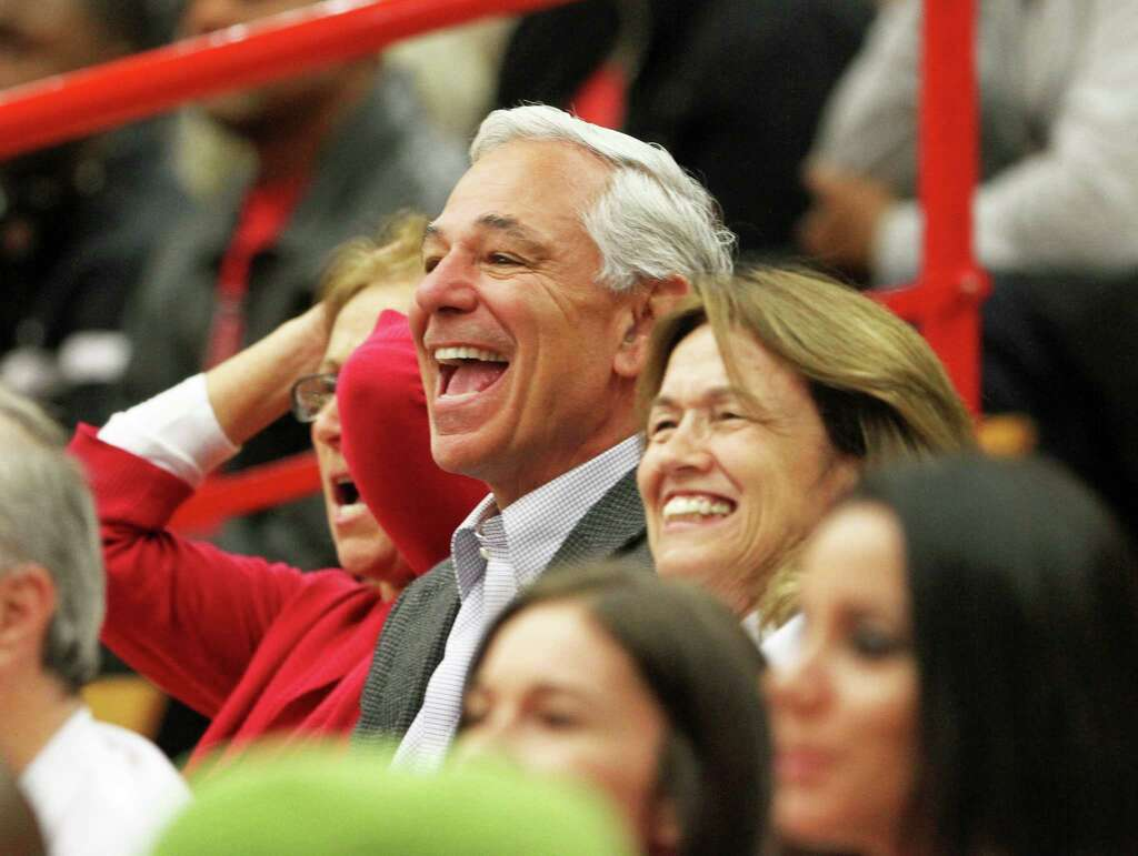 Sacred Heart University Athletic Director Bobby Valentine Cheers For The  Womenu0027s Basketball Team During A Game
