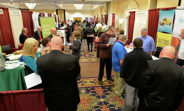 There was a large turnout for the Times Union October Job Fair Monday morning, Oct. 13, 2014, in Colonie, N.Y. (Skip Dickstein/Times Union) Photo: SKIP DICKSTEIN / 10028983A