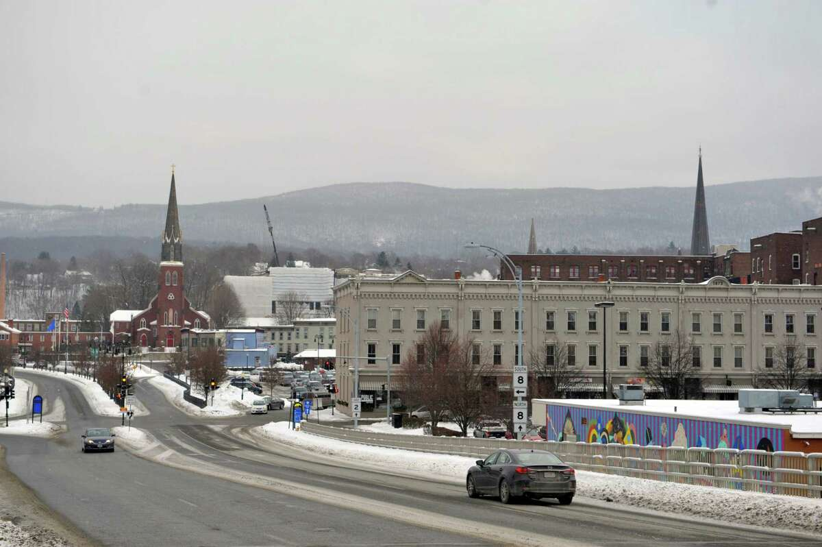 A view of the downtown area on Wednesday, Jan. 14, 2015, in North Adams, Mass. (Paul Buckowski / Times Union)