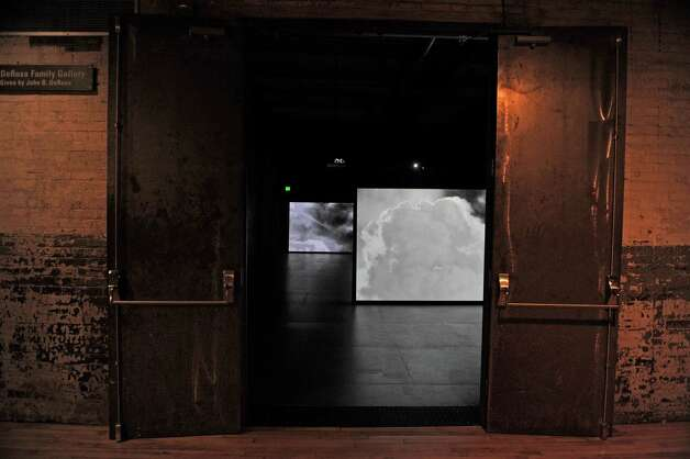 "A film installation by artist Lisa Oppenheim titled ""Smoke,"" plays in a gallery inside Mass MoCA on Wednesday, Jan. 14, 2015, in North Adams, Mass.  (Paul Buckowski / Times Union) Photo: Paul Buckowski / 00030194A"