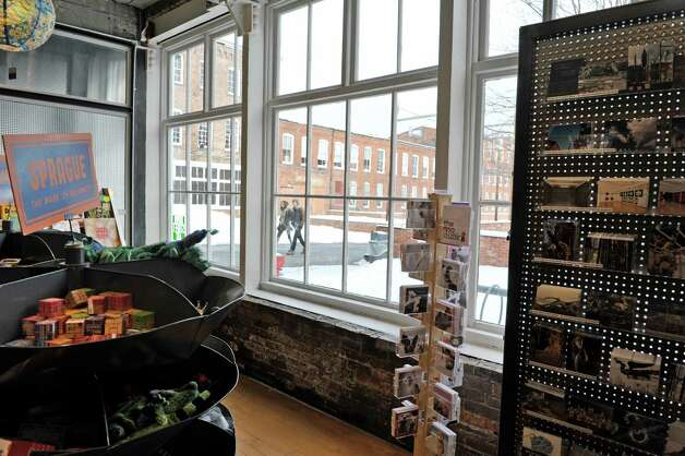 A view looking out from the gift shop at Mass MoCA on Wednesday, Jan. 14, 2015, in North Adams, Mass.  (Paul Buckowski / Times Union) Photo: Paul Buckowski / 00030194A