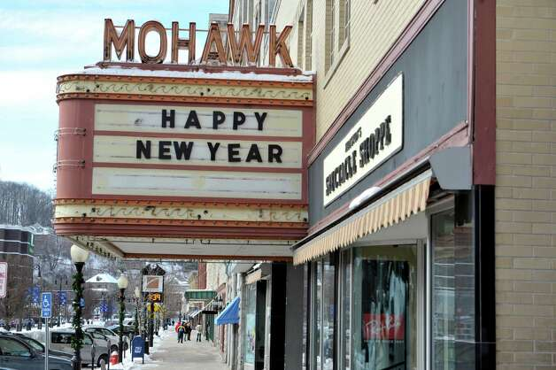 A view of the closed Mohawk Theater on Main St. in the downtown district on Wednesday, Jan. 14, 2015, in North Adams, Mass.  (Paul Buckowski / Times Union) Photo: Paul Buckowski / 00030194A