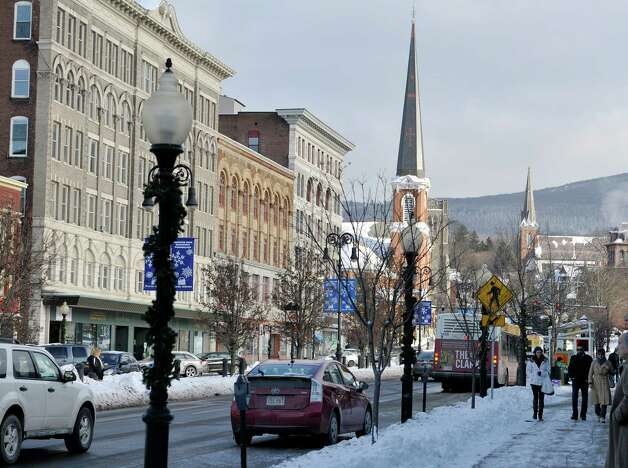A view looking down Main St. in the downtown district on Wednesday, Jan. 14, 2015, in North Adams, Mass.  (Paul Buckowski / Times Union) Photo: Paul Buckowski / 00030194A