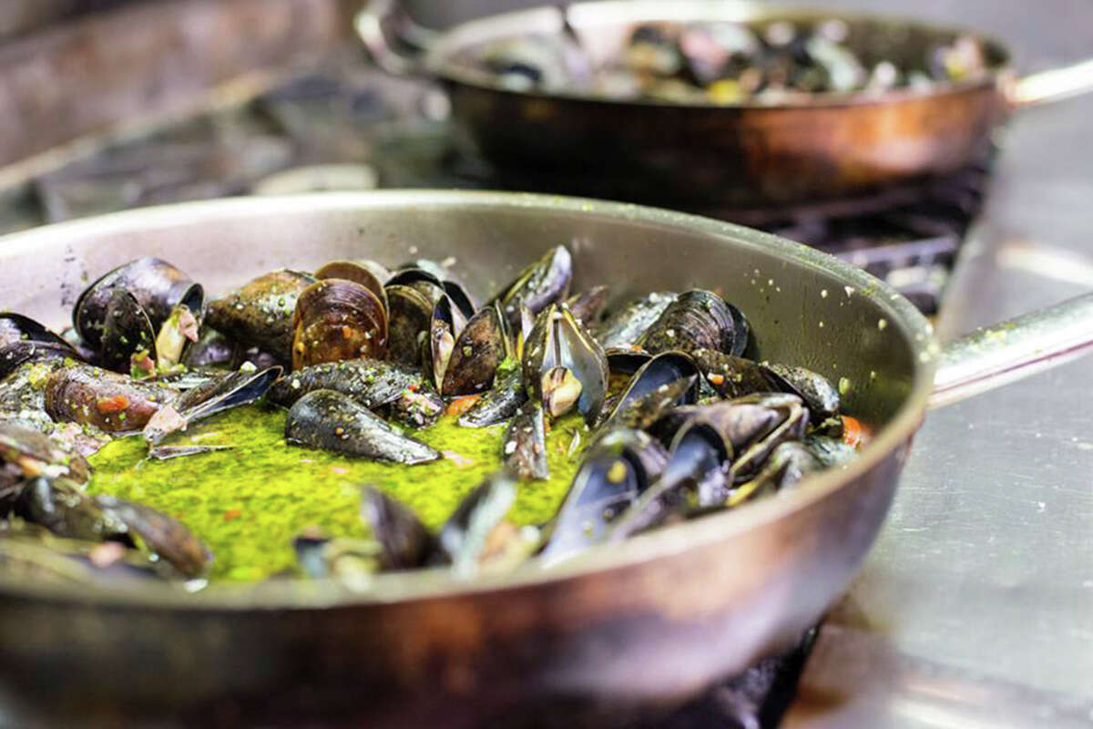 The $35 dinner option at Citrus includes P.E.I. mussels with housemade veal pastrami.