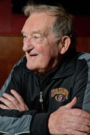 Longtime area basketball coach Don Bassett recounts his career Tuesday Jan. 13, 2015, in Albany, NY.  (John Carl D'Annibale / Times Union) Photo: John Carl D'Annibale / 00030182A