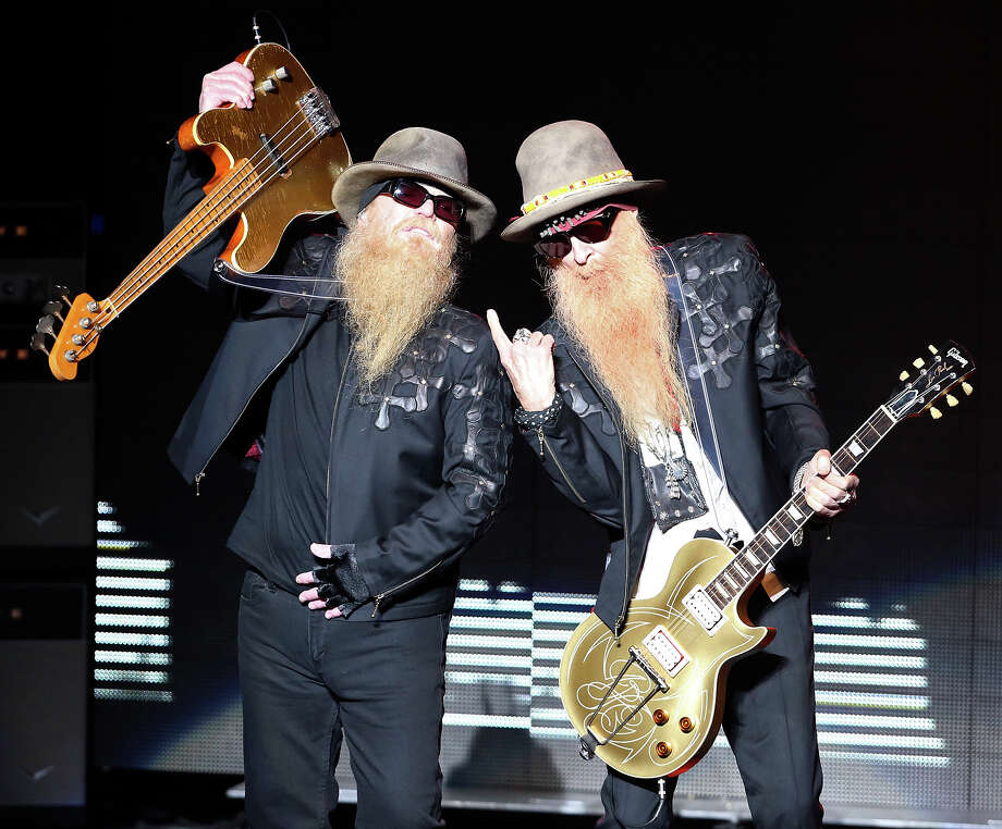ZZ Top's Dusty Hill (left) and Billy Gibbons perform Saturday Jan. 17, 2015 at the Majestic Theatre. Photo: Edward A. Ornelas, San Antonio Express-News / © 2015 San Antonio Express-News