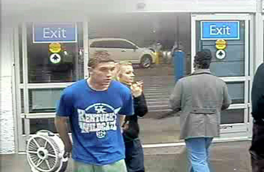 Dalton Hayes and Cheyenne Phillips as seen on a surveillance camera at a South Carolina Walmart. Photo: Uncredited / Associated Press / Walmart Inc. via The Grayson Cou