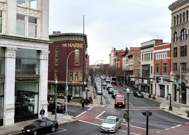 The intersection of River Street and Third Street on Friday Dec. 6, 2013 in Troy, N.Y. (Michael P. Farrell/Times Union) Photo: Michael P. Farrell / 00024931A