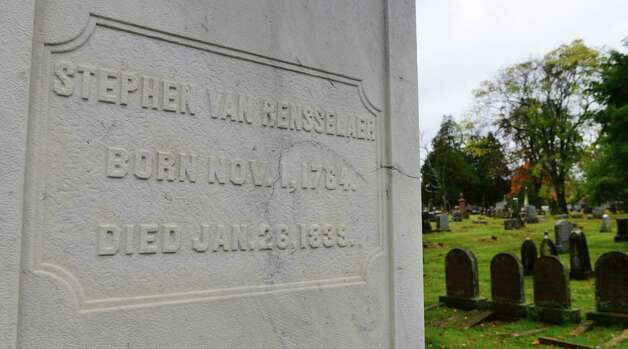 The Van Rensselaer family plot is pictured Sunday Oct. 6, 2013, at Albany Rural Cemetery in Menands, N.Y. Stephan Van Rensselaer III was a former Lieutenant Governor of New York and the founder Rensselaer Polytechnic Institute. He was a man of considerable wealth. (Will Waldron/Times Union) Photo: WW / 00023993A
