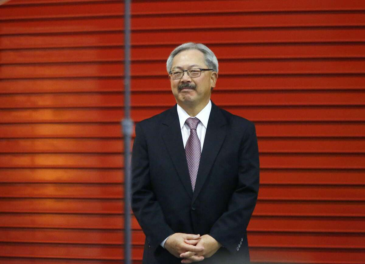 San Francisco Mayor Ed Lee waits to deliver his State of the City speech at the San Francisco Wholesale Produce Market on Thursday January 15, 2015 in San Francisco, Calif.