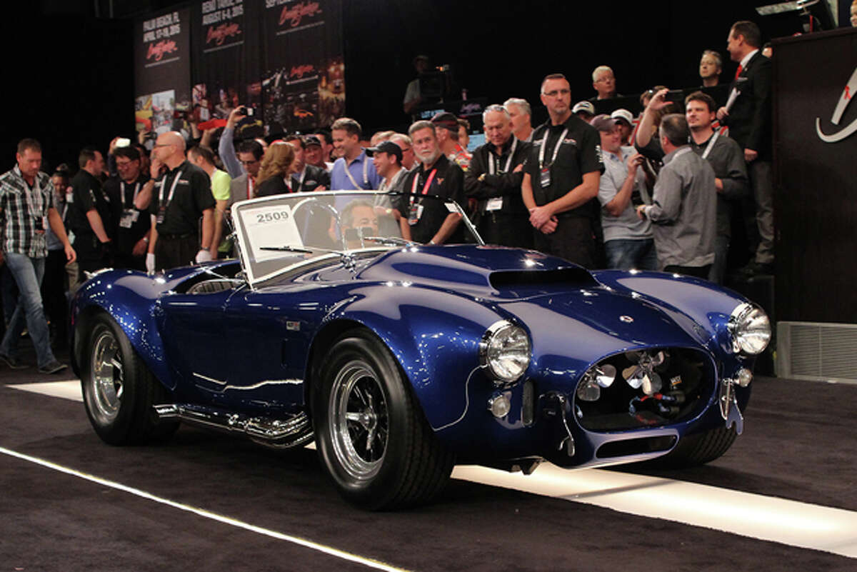 Click through the slideshow to view the top-selling vehicles in the Barrett-Jackson 2015 Scottsdale Auction. Lot #2509 - 1966 Shelby Cobra 427 Super Snake sold for $5,115,000. Source: Classic Cars with Dan Lyons.