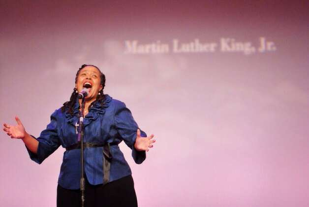 A celebration of the life of Martin Luther King Jr. is underway at the Empire State Plaza on Monday, Jan. 19, 2015. (Paul Buckowski / Times Union)