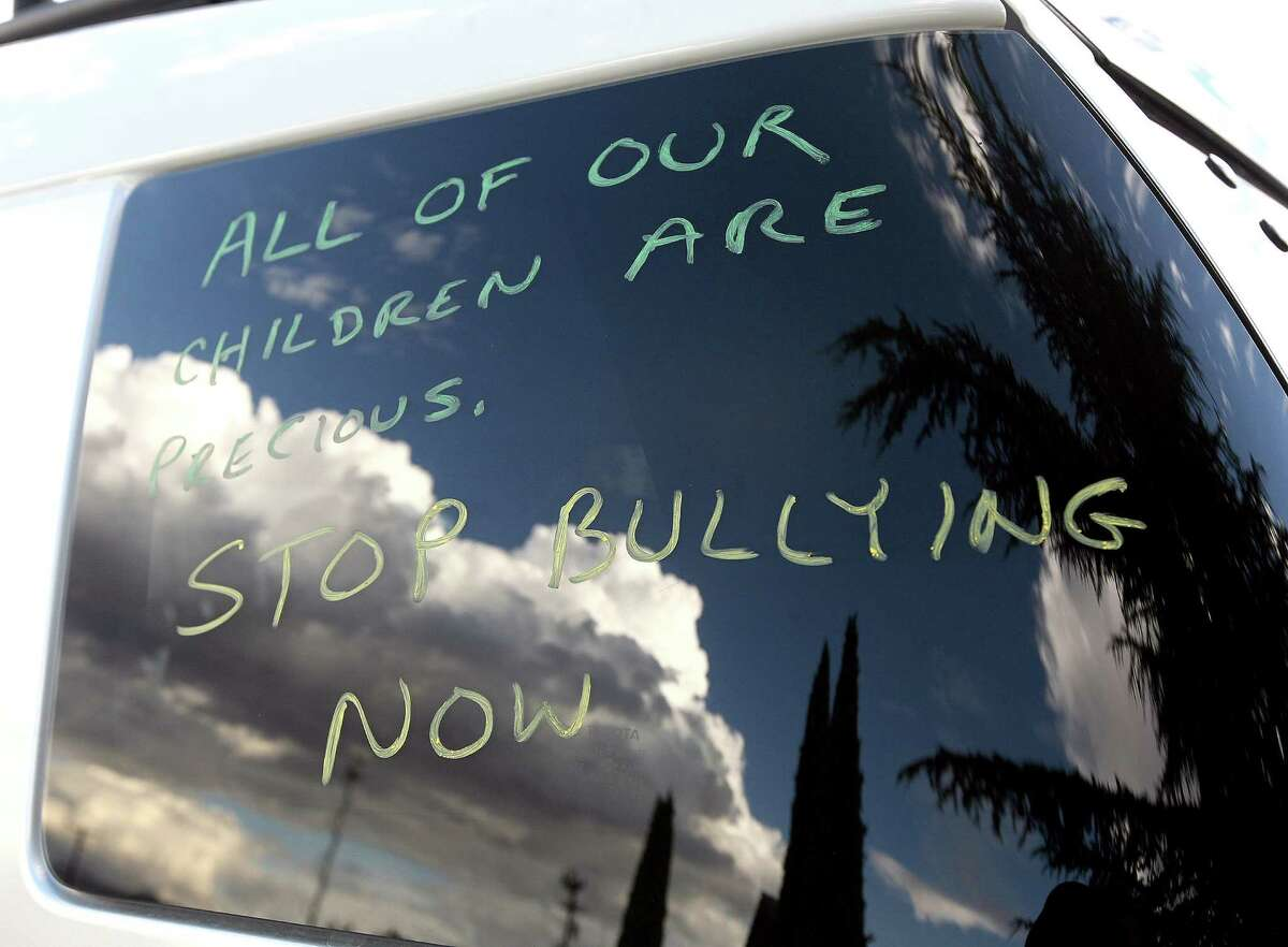 Teen suicides linked to anti-gay harassment can be stopped. This message was displayed on a vehicle window during Seth Walsh's memorial service in Tehachapi, Calif. The gay teen, who police determined was bullied for at least two years, hanged himself iin 2010, according to police reports.