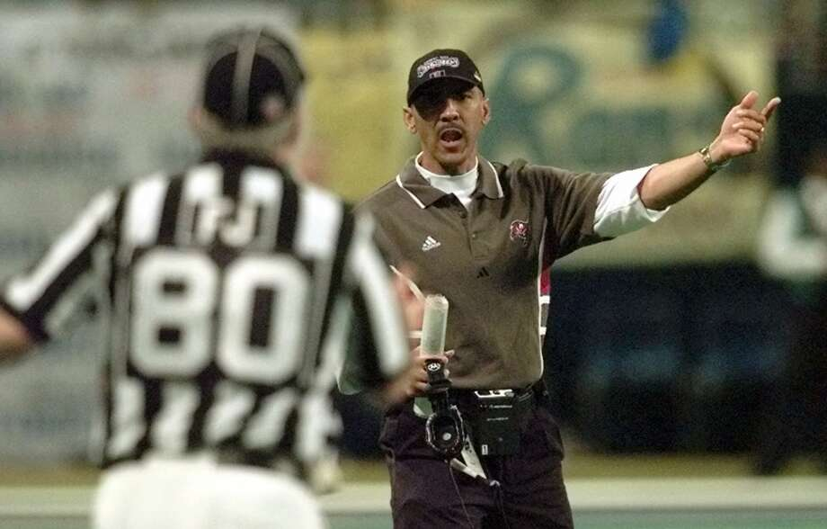 10. 1999 NFC Championship: Rams 11, Buccaneers 6. Coach Tony Dungy and the Bucs did what few teams could: Slow down St. Louis' Greatest Show on Turf offense. But a late Kurt Warner to Ricky Proehl touchdown pass gave the Rams the lead. Tampa Bay then saw a critical catch by Rice product Bert Emanuel wiped out on a controversial replay review (the rule was changed the following offseason), short-circuiting a possible go-ahead drive. Photo: J. PAT CARTER, AP