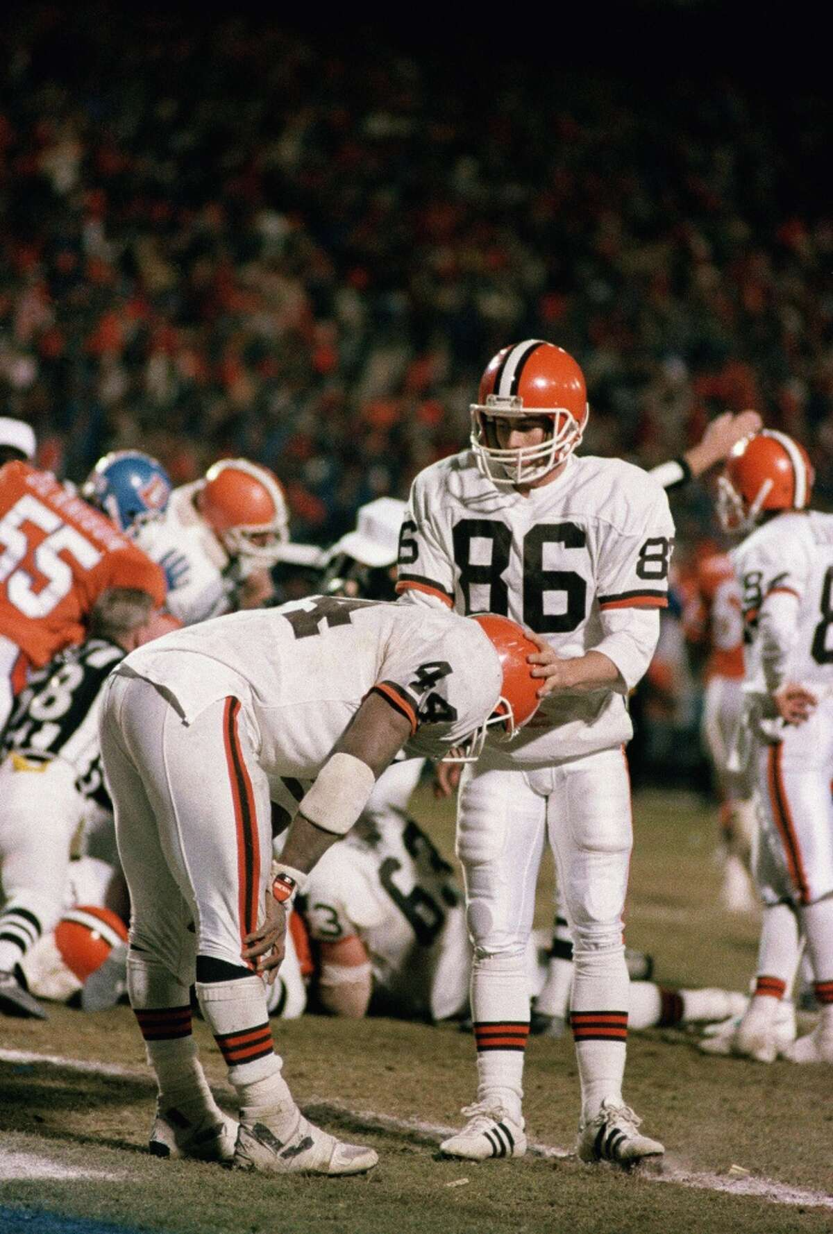 AFC, 1987: BRONCOS 38, BROWNS 33 One year after enduring The Drive, Cleveland was handed another bitter loss. The Browns were poised to tie the score in the final minutes, but running back Earnest Byner was stripped of the ball near the goal line by Denver's Jeremiah Castille, with the Broncos recovering. In Cleveland, it's called
