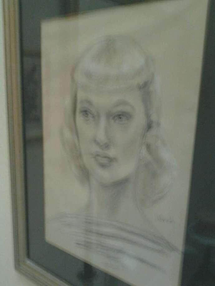 Margaret Keane street sketch of Judy Morris Zografos