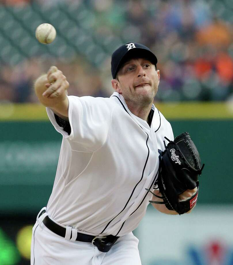 Max Scherzer's contract with Washington includes a record $50 million signing bonus. Photo: Carlos Osorio / Associated Press / AP