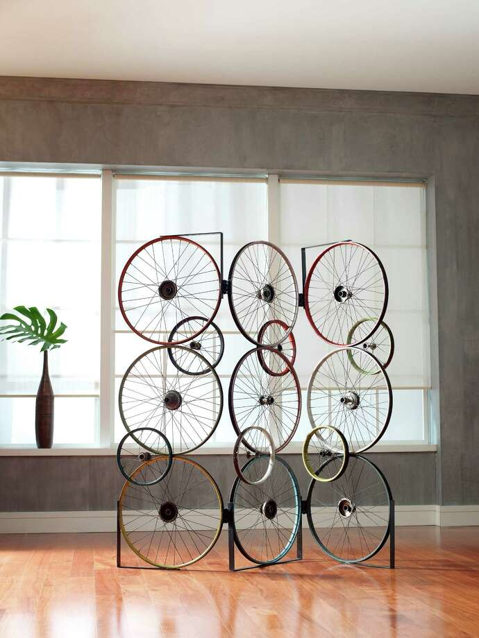 right at home: décor made of bicycle parts - houston chronicle