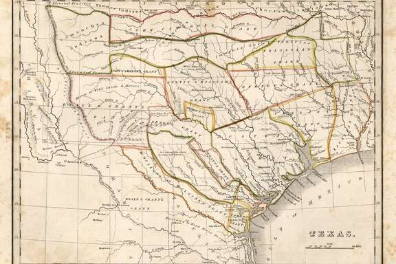 From Comprehensive Atlas, Geographical, Historical and Commercial by Thomas Gamaliel Bradford, 1835. First issue of the first separate map of Texas to appear in an atlas. Courtesy Dorothy Sloan-Rare Books, Austin, Texas