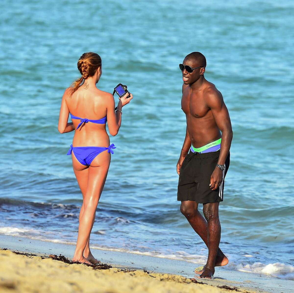 Demba Ba is sighted on January 9, 2015 in Miami Beach , Florida. (Photo by Alo Ceballos/GC Images)