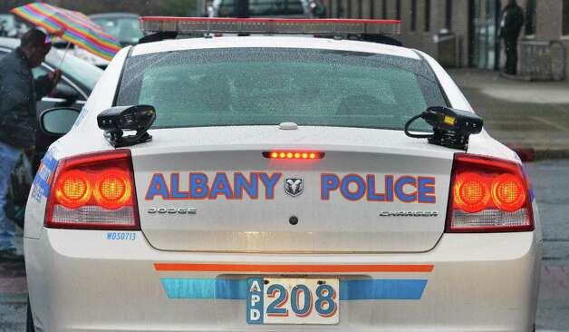 Trunk car mounted police license plate scanners on an Albany Police Dept. cruiser Wednesday April 30, 2014, in Albany, NY.  (John Carl D'Annibale / Times Union) Photo: John Carl D'Annibale / 00026699A