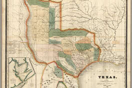 "This is the third edition of this scarce and important map of Texas. The first edition was issued in 1833 and the second edition in 1834. Streeter also lists an 1845 edition with the title changed to ""The State of Texas."" This copy was Streeter's copy with his notes on the inside front cover. The brown cloth covers 13.5x8 have ""Burr's Map Of The State of Coha. & Texas Published By J.H. Colton & Co. New York"" stamped in gilt. Full color. Streeter refers to this map as ""the first large scale map of Texas... to show all of Texas to the Arkansas River"" and states that ""The Burr map, like the Austin Map, is one of the landmarks of Texas cartography..."" The detail on the land grants is the best for its time. The 1833 issue shows a smaller Texas extending west to the 103rd meridian, whereas the 1834 and 1835 issues show a much expanded Texas extending west to about the 106th meridian and north to the Arkansas River. There is an inset map of Galveston Bay that Streeter refers to in his penciled notes on the inside cover as ""1st detailed printed chart of Galveston Bay?"" Above the inset map is a table of Distances. Yale has an 1835 edition that was issued earlier in the year than this copy - it does not show Milan's Grant in place of Beal's Grant and it does not list the four new towns that appear on our 1835 edition: Columbia, Electa, Mina and Augusta. Taliaferro 247 (illustrated) appears to be the same as Yale's copy."