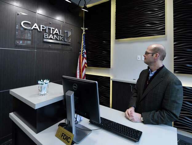 Anders M. Tomson, bank president, stands in the new reception area of the Capital Bank building Monday morning, Jan. 19, 2015, at 132 State Street in Albany, N.Y.     (Skip Dickstein/Times Union) Photo: SKIP DICKSTEIN / 00030253A